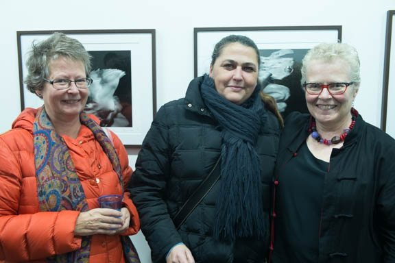 Left to right: Leana Borgström, Giovanna Brankovic, and myself at the opening